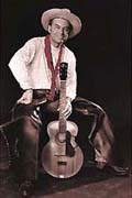 Cowboy Skip Gorman and his guitar