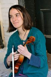 Jessie Gagne-Hall with fiddle