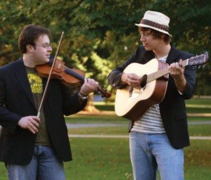 Photo of Brendan Carey Block - fiddler and Eric McDonald - guitarist