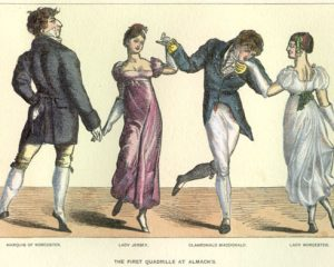 Drawing of English Country Dancers